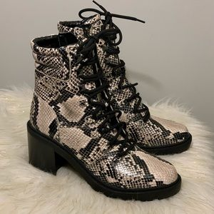 Marc Fisher animal print faux leather boot